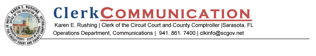 Sarasota Clerk Communication