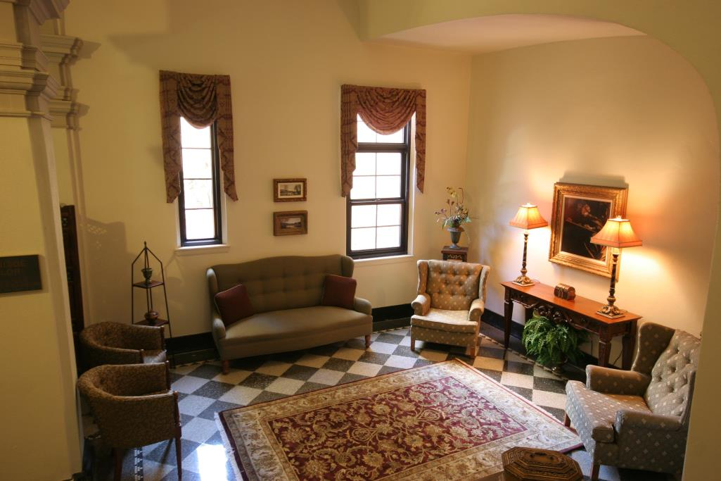 View of marriage parlor at the Historic Courthouse in Sarasota, FL.
