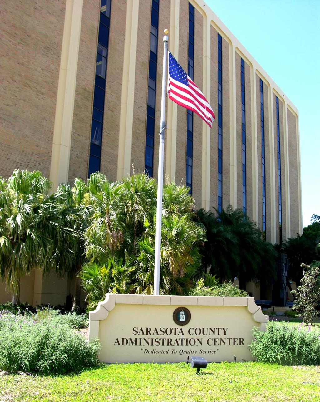 Picture of the Sarasota County Administration Center.