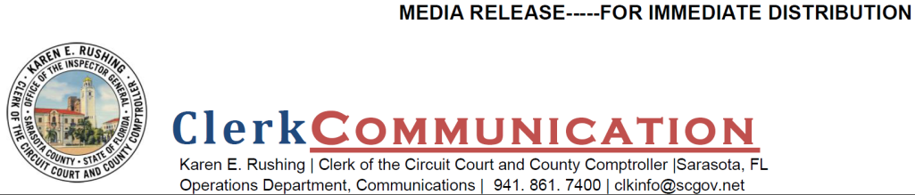 Media Release - For Immediate Distribution - Clerk Communication