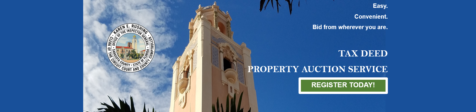 Tax Deed Property Auction Service